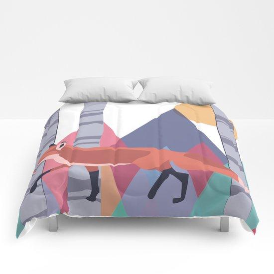 Fox stroll Comforters