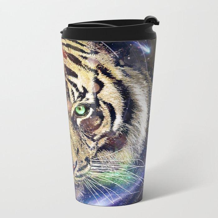 Space Tiger Metal Travel Mug
