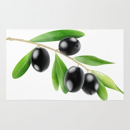 Branch with olives Rug