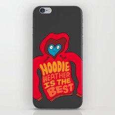 Hoodie Weather iPhone & iPod Skin
