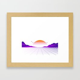 Vaporwave Outrun | Eighties Style Framed Art Print