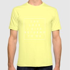 The Love I Give II Mens Fitted Tee Lemon SMALL