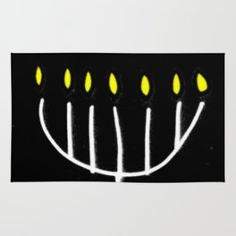 menorah,Hanukkah,jewish,jew,judaism,Festival ofLights,Dedication,jerusalem,lampstand,Temple Rug