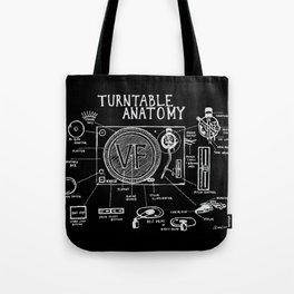 Turntable Anatomy Tote Bag