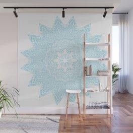 Moonlight Blue Mandala Bohemian Decor Medallion Wall Mural
