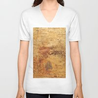 birch V-neck T-shirts featuring Birch by Shaun Hedican