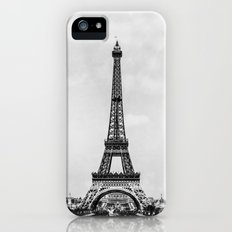 Eiffel tower in B&W with painterly effect iPhone (5, 5s) Slim Case