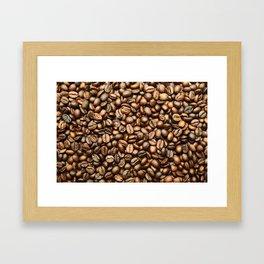 Roasted Coffee Beans Framed Art Print