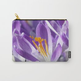 Violet spring crocus Carry-All Pouch