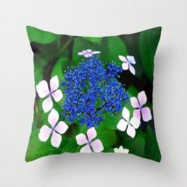 blue blossom Throw Pillow