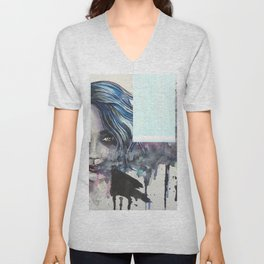 Smoke Girl Unisex V-Neck