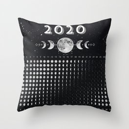 Moon calendar 2020 #2 Throw Pillow