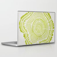 tree rings Laptop & iPad Skins featuring Lime Tree Rings by Cat Coquillette