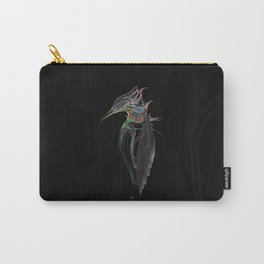 Kingfisher 1d. Color lines on black background-(Red eyes series) Carry-All Pouch
