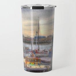 Boat community river Thames London Travel Mug