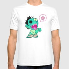 zombie White MEDIUM Mens Fitted Tee