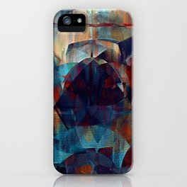 I face every hurdle, with a nervous state of mind iPhone Case