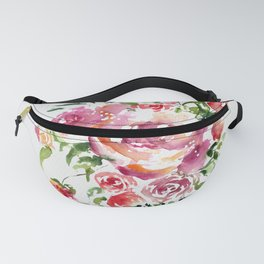Abstract Bouquet in watercolor Fanny Pack