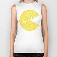 pac man Biker Tanks featuring Pac-Man Typography by Kody Christian
