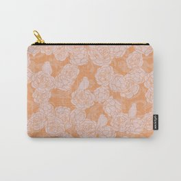 Cute Birds on Roses Carry-All Pouch