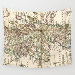 Vintage Map of Scotland (1718) Wall Tapestry