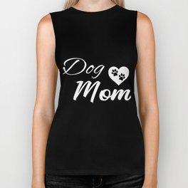 Dog Mom White Biker Tank