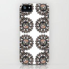 Fractal Art - Pentagram Circle I iPhone Case