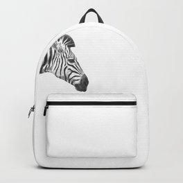 Black and White Zebra Profile Backpack