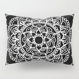 Black and White Mandala Pillow Sham