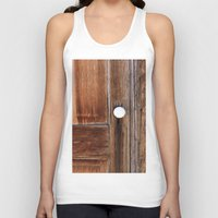 cabin Tank Tops featuring Cabin Door by Leland D Howard