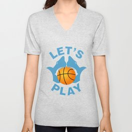 Let's play basketball Unisex V-Neck