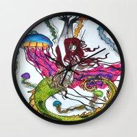siren Wall Clocks featuring Siren by Labartwurx