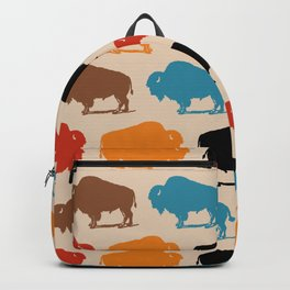 Colorful Buffalo Bison Pattern 278 Backpack