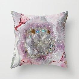 Pink Quartz Throw Pillow