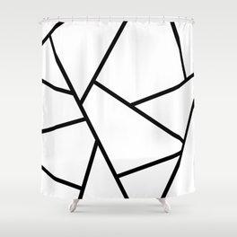 Black and White Fragments - Geometric Design I Shower Curtain