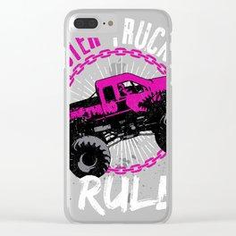 Gift design for Monster Truck Lovers Monster Truck Fan S Clear iPhone Case