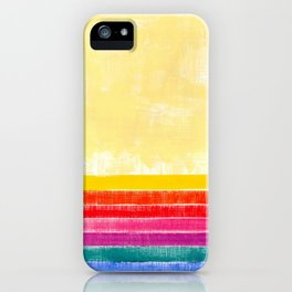 Abstract rainbow pattern in acrylic iPhone Case