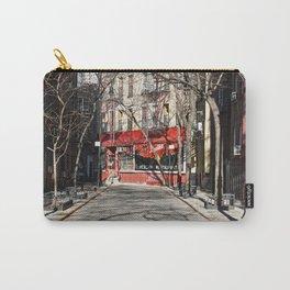 Greenwich Village street in winter Carry-All Pouch
