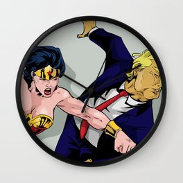 Punch Trump Wall Clock
