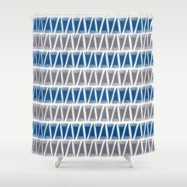 Tee Pee Lapis Blue Shower Curtain