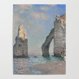 The Rock Needle and the Porte d'Aval by Claude Monet Poster