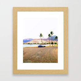 old school hawaii Framed Art Print