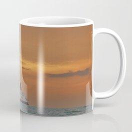 Ferry At Sunrise Coffee Mug