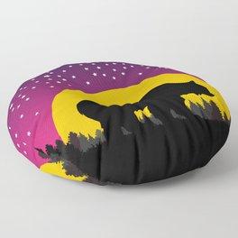 Bear Stars Moon Floor Pillow