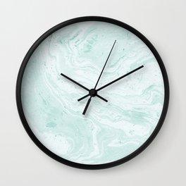 Seaforam Marble Print Wall Clock