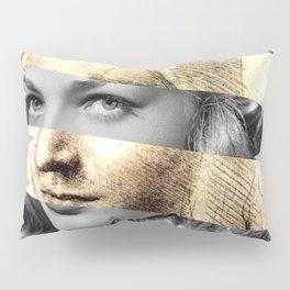 """Leonardo's """"Head of a Woman"""" & Lauren Bacall Pillow Sham"""