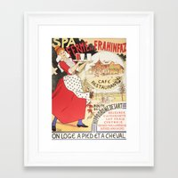 cafe Framed Art Prints featuring Cafe by Artzology