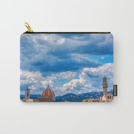 Duomo Santa Maria Del Fiore and tower of Palazzo Vecchio  in Florence, Tuscany, Italy Carry-All Pouch