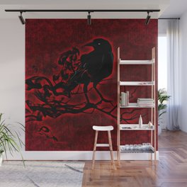The Red Raven Wall Mural