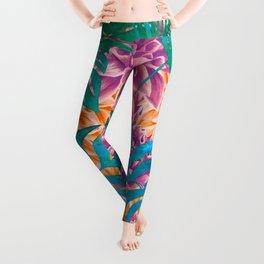 artistic floral cn Leggings